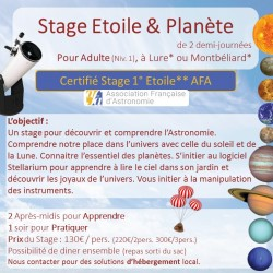 Stage Adulte Astronomie